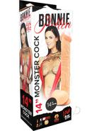 Bonnie Rotten Monster Cock With Balls White 14 Inch
